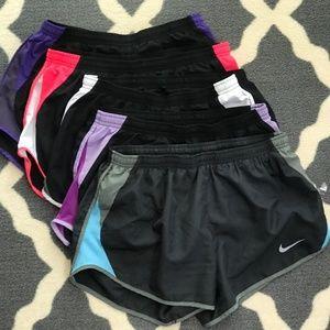 Nike Shorts - 5 pairs of Nike running shorts - Size M